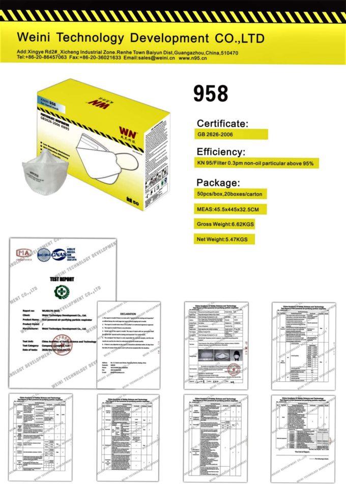 KN95 958 Specs